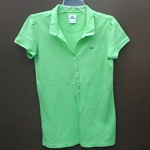 Lacoste | Women Green slim fit polo shirt Sz 42
